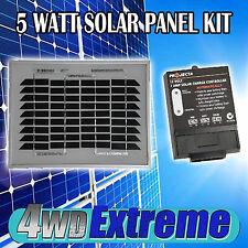 5 WATT SOLAR PANEL TRICKLE BATTERY CHARGER INC PROJECTA SC005 REGULATOR CARAVAN