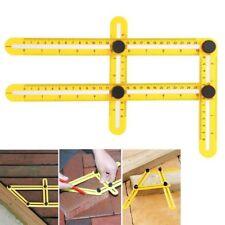 Adjustable Four-Sided Folding Measuring Tool Multi-Angle Template Scale Ruler