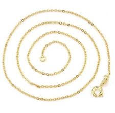 "Ladies 18"" Inch 22K Yellow Gold GP Open Chain Link Necklace N56"