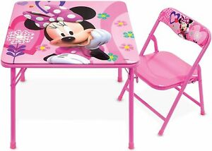 Minnie Mouse Kid Table 1 Chair Set Play Table Toddlers Mesa Sillas Para Niños