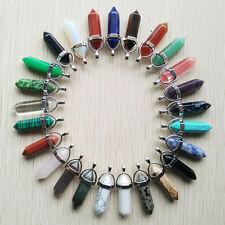 Mixed Natural stone Point Chakra Healing Gemstone Pendants 24pcs/lot Wholesale