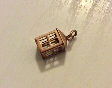 Nice Antique 9 Carat Rosey Gold Lantern Charm