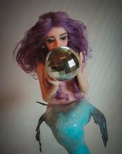 "ooak art doll fairy mermaid ""Iris"" fantasy  sculpture by artist Saahra Shaver"