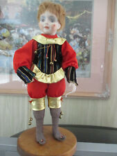 16 inch Porcelain Face Doll with soft Body..Could be a Court Jester.