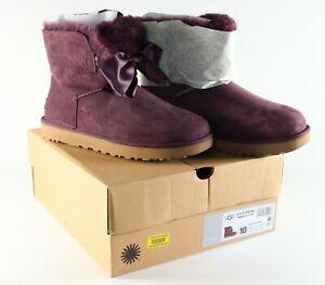 Authentic NEW Womens UGG Gita Bow Mini Port 1098360 Size 10 Boot w/ Box