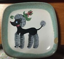 1935 GLIDDEN POTTERY SMALL POODLE DISH