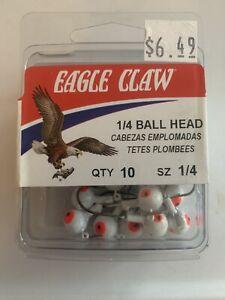 Eagle Claw Ball Head Jig Size 1/4 White