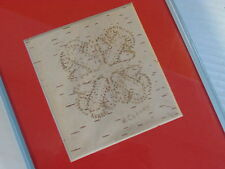 BIRCH BARK BITINGS, NATIVE AMERICAN,5 X 7 INCHES SKY BLUE FRAME, FOREST FLOWER