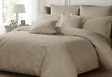 QUILTED Quilt Duvet Doona Cover ASHTON White Silver Charcoal new by Georges