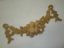 Décorative sculptée à la main en bois de pin fonction pièce, corne d'abondance (618)
