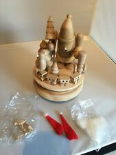 More details for musical box xmas dec. vintage zims unpainted - 1999. new ready to paint/craft