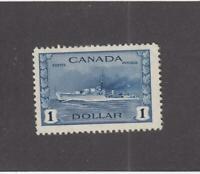 CANADA (MK3642) # 262 VF-MNH  $1 1942 RCN DESTROYER /TRIBAL CLASS CAT VALUE $150