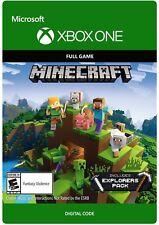 Minecraft Xbox Completo Juego + Explorer's One Pack Add-on-envío rápido!