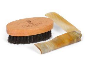 Ox Horn Moustache & Beard Comb and Boar Bristle Beard Brush Set by Revered Beard