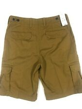 M&S Mens Camel Long 100% Cotton Shorts Waist 32 inches RRP £25 (Brand New)