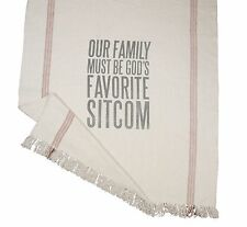 """Throw Blanket - """"Our Family Must Be God'S Favorite Sitcom"""" Primitives By Kathy"""