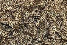 "PUNK NATURAL LEOPARD ANIMAL PRINT STRETCH COTTON TWILL FABRIC 55"" WIDTH"