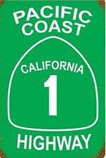 Pacific Coast Highway rusted steel sign 460mm x 300mm (pst)