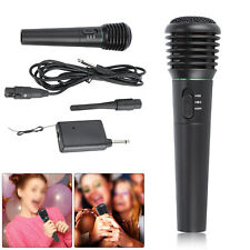 More details for professional wireless handheld microphone system home party karaoke singing uk