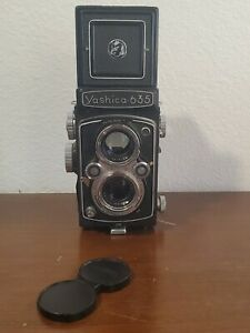 Yashica-635 TLR 120mm 35mm 6x6 Format Camera 1968 - AS IS (see pictures)