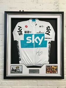 Geraint Thomas Signed Tour De France Yellow Jersey FRAMED AFTAL COA