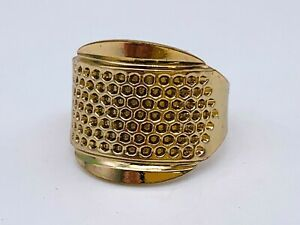 Adjustable Golden Ring Band Thimble - Gently Used