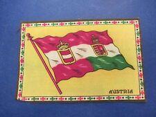 Vintage Felt Cigarette Cigar Flags, Austria, Red/White/Green on Yellow, S596