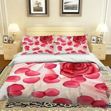 3D Red Rose Petals Silk KEP9339 Bed Pillowcases Quilt Duvet Cover Kay