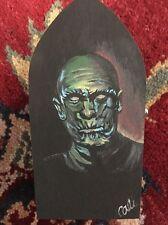 "Original Art Box Painting Classic Monster ""The Mummy"" Hand Painted Folk Art"