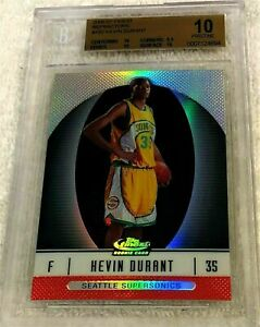 KEVIN DURANT 2006 FINEST REFRACTOR RC #102 SERIAL #351/399 BGS 10 (10 10 9.5 10)