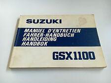 Suzuki GSX 1100 (GU71) Manual de Instrucciones / Manual D'Entretien (1979)
