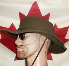 Canadian DIGGER hat waxed cotton oilcloth outdoor olive 7 7/8 2XL gently worn vg