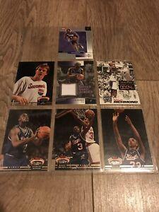 SACRAMENTO KINGS NBA BASKETBALL Trading Cards x 7 Chris Webber Sweet Shot Jersey