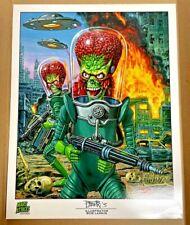Kickstarter 2015 Mars Attacks Occupation Artist Print by Bob Larkin / 11 X 14