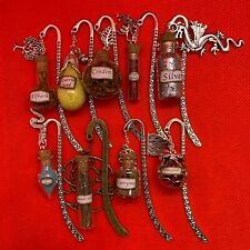More details for farseer inspired metal bookmark [robin hobb] magic vial bottle w/ charm - new
