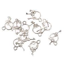 ring of keys jailers key ring Tibetan Silver Bead charms Pendants 10pcs 25*12mm
