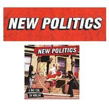 NEW POLITICS A Bad Girl In Harlem Ltd Ed Stickers Lot +FREE Alt Rock Stickers!