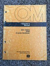 John Deere 450d Crawler Bulldozer Owner Operator Maintenance Manual Omt75122