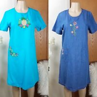 Blair Dress 2 lot Womens Size S M L Jeans Embroidered Short Sleeve Casual