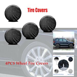 "4PCS RV Trailer Car Truck SUV Wheel Tire Covers 26"" to 27'' Dia Valid Waterproof"