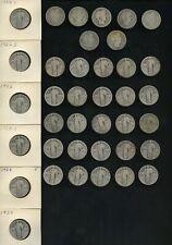 (38) U.S 90% Silver Barber & Standing Liberty Quarters Lot w/ Better dates-p-vg