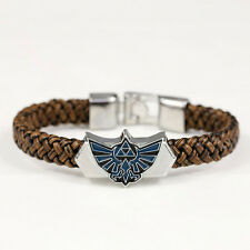 Charm Anime The Legend of Zelda PU Leather Bracelet Wristband Cosplay