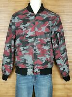 American Rag Cie Gray Camouflage Full Zip Jacket Mens Size Small S