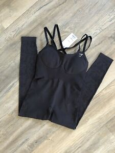 Gymshark Studio All in One XS Extra Small Black NWT