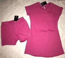 NWT Nike Girl's Junior Pink Dri-Fit Golf Dress Shorts Set Large 12 14 Yrs