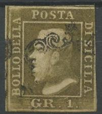 ASI0003a SICILIA 1859 1 grano bruno oliva chiaro