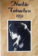 MAGAZIN Akt foto 1959 NACKT fkk woman Busen Frau Girl Jung Mädel DDR JOKE gondel