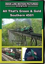ALL THAT'S GREEN AND GOLD SOUTHERN 4501 MAIN LINE MOTION PICTURES NEW DVD VIDEO