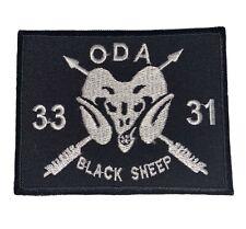 ODA-3331 Blacksheep  Black Sheep Patch Military War.