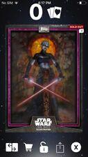 Topps Star Wars Digital Card Trader Purple Asajj Card Trader Illus. Insert